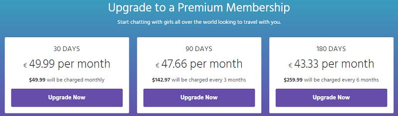 MissTravel Premium Preise